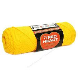 Red Heart classic, Crochet Premium Acrylic Knitting yarn, Yellow