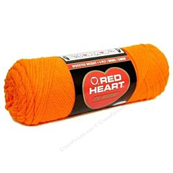 Red Heart classic, Crochet Premium Acrylic Knitting yarn, Orange