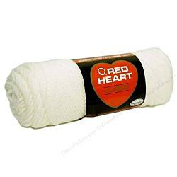 Red Heart classic, Crochet Premium Acrylic Knitting yarn, White