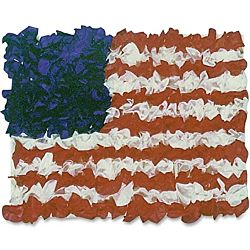 Hygloss American 30 Flag Tissue Craft Kit, item - 40004