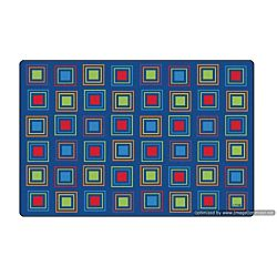 Kids Literacy Squares Primary Carpet  8' x 12' (without Letters)