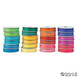 Neon Stain Ribbon Assortment 24 Rolls Pack