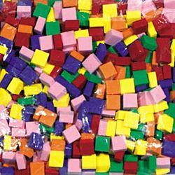 Chenille Kraft Wonderfoam Mosaic Tile, Assorted Color, Pack of 500, CKC-4338