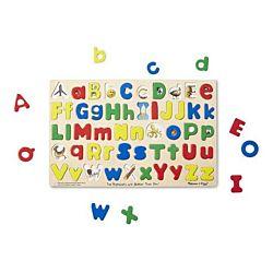 Melissa & Doug Upper & Lower Case Alphabet Wooden Puzzle , item 47