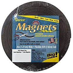 Adhesive Back Magnetic Tape Strip Roll - 1/2