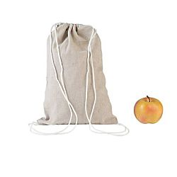 DIY Natural Canvas Drawstring Backpacks to decorate - 12 Pack