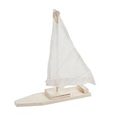 Darice DIY Wood Sailboat Kits,  Set Of 12 (48/3633)