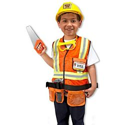 Melissa & Doug Kids Construction Worker Outfit  (6 pcs) Set , 4837