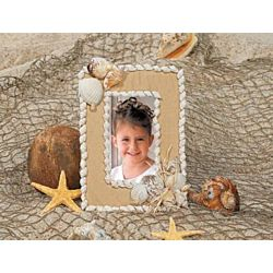 Natural Sea Shell Picture Frames 12 Project Pack