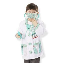 Melissa & Doug Doctor Role Play Costume Dress-Up Set (7 pcs) 4839