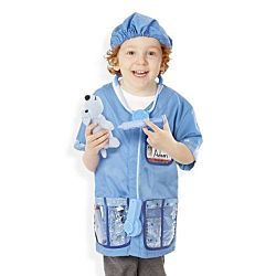 Melissa & Doug Veterinarian Role Play Costume Dress-Up Set (9 pcs) , 4850