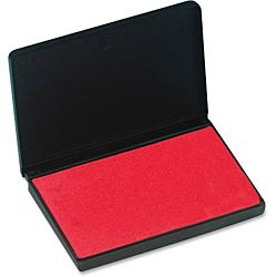 Large Rubber Felt Stamp Pad Red 3 1⁄4