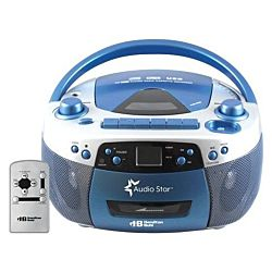 Classroom AudioStar Boombox Radio, CD, USB, Cassette Player With Tape And CD To MP3 Converter