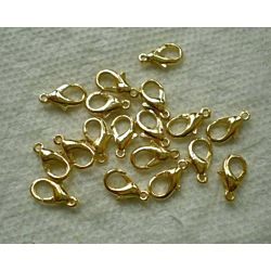 144-Piece Lobster Claw Clasps for Jewelry Making, 12mm, Gold