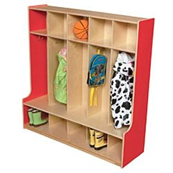 Wood Designs, Children 5 Section Locker Red, WD51000R