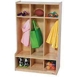 Wood Designs Children 3 Section Locker Natural, WD-51003
