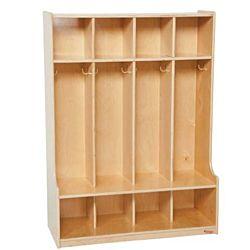Wood Designs Children 4 Section Locker Natural, WD-51004