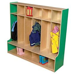 Wood Designs, Children 6 Section Locker 54