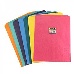 Hygloss Pinch Bottom Paper Bags, 12 by 14-Inch, Assorted Colors, 14-Pack