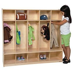 Wood Designs, Children 5 Section Locker 54