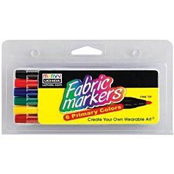 Uchida Fabric Marker Fine Tip 6/Pkg-Bright 510-6E