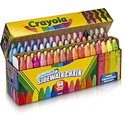 Crayola® Sidewalk Chalk Washable 64ct - 51-2064