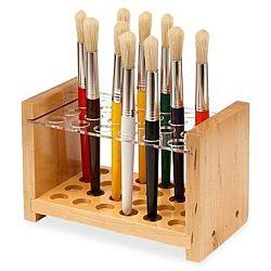 Chenille Kraft 24 Brush Wood Paint Brush Holder