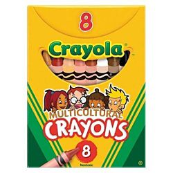 Crayola Multicultural Crayons, 8 Skin Tone Colors  (52-008W)