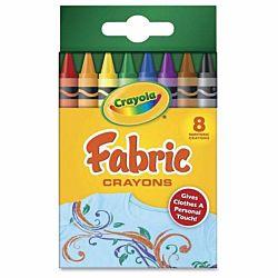 Crayola 8-Count Fabric Crayons  (52-5009)