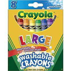 Crayola Washable Crayons Large 8-pk  (52-3280)