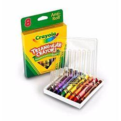 Crayola 8ct Triangular Crayons 52-4008