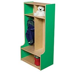 Wood Designs, Children 2 Section Locker Green, WD52400G