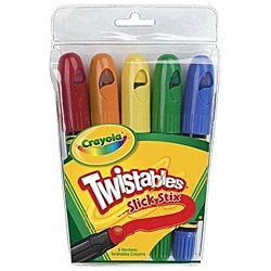 Crayola Twistables 5 Slick Stix Color Crayons 52-9505