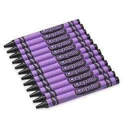 Crayola Regular Crayon Single Color Refill Pack - Violet -12 count