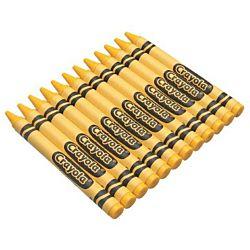 Crayola Regular Crayon Single Color Refill Pack - Yellow -12 count