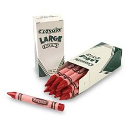 Crayola Crayons Bulk Refill - Large Size, Box of 12, Red 52-0033-38