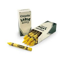 Crayola Crayons Bulk Refill - Large Size, Box of 12, Yellow 52-0033-34