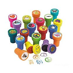 Plastic Stamper Assortment - 50 piece set