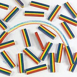 Multi-Color Rainbow Crayon Set 6 colors 25/Box