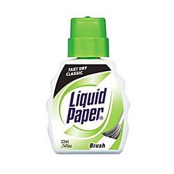 Paper Mate Liquid Paper Fast Dry White Correction Fluid, 22 mL