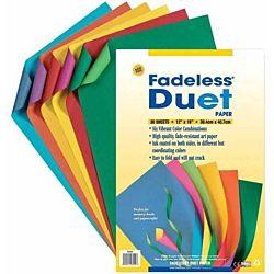 Pacon Fadeless Duet Paper, 12