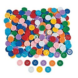 Self-Adhesive Plastic Buttons 1 lb. (approx 800 pcs)