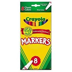 Crayola Fine Line Markers 8 Set Classic Colors 58-7709