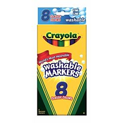 Crayola Washable Thinline Marker 8 Count 58-7809