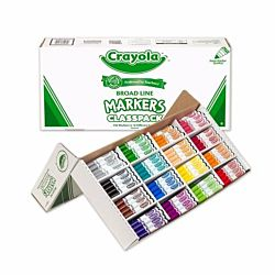 Crayola Classpack Assortment, 256ct Broad Line Markers, 16 Bold Colors 58-8201