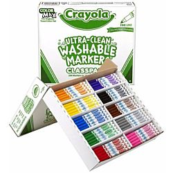 Crayola 200 Ct Ultraclean Washable Markers, Fine Point, 8 Colors 58-8211