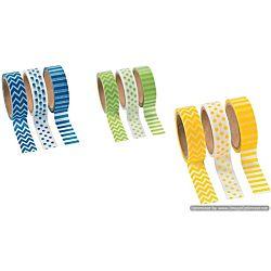 Washi Tape Set (3 Rolls per Unit), 16'