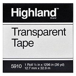 Highland Economy Transparent Tape 1/2