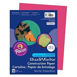 SunWorks Heavyweight Construction Paper, Scarlet 9