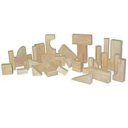 Wood Designs Children Play Wood Toddler Blocks - 13 Shapes, 36 Pieces, WD-60100